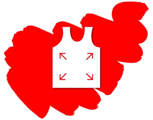Wäsche Icon auf Roter Farbe